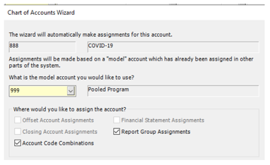 Chart of Accounts Wizard